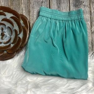 J Crew Pants 4P Teal Cropped (see note)